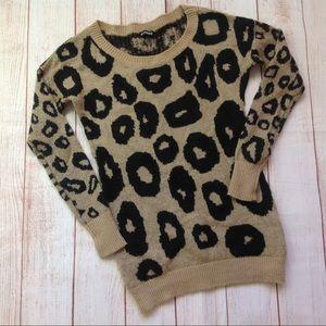 Express Cheetah Print Mohair Blend Sweater